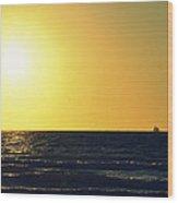 Sailing In Venice 3 Wood Print