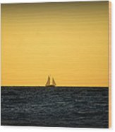 Sailing In Venice Wood Print