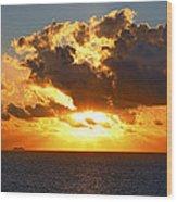 Sailing Into The Sunrise Wood Print