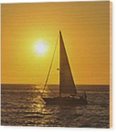Sailing Into The Sunset Wood Print by Aged Pixel