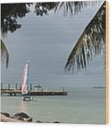 Sailing Key Largo Wood Print