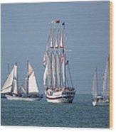 Sailing Lake Erie Wood Print