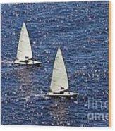 Sailing Wood Print by Lars Ruecker