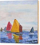 Sailing Nantucket Sound Wood Print