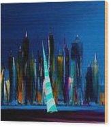 Sailing New York 3 Wood Print
