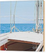 Sailing On A Fine Sunny Day Wood Print by Artist and Photographer Laura Wrede