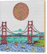 Sailing On San Francisco Bay Wood Print