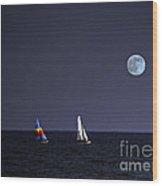 Sailing On Summer Breeze Wood Print