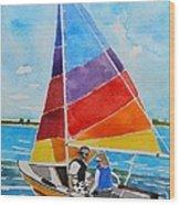 Sailing On The Choptank Wood Print