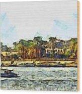 Sailing On The Nile Wood Print