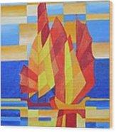 Sailing On The Seven Seas So Blue Wood Print by Tracey Harrington-Simpson