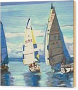 Sailing Regatta At Port Hardy Wood Print