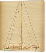 Sailing Reggae Wood Print