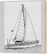 Sailing Sailing Sailing Wood Print