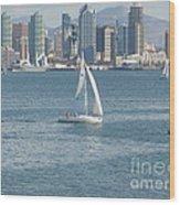 Sailing San Diego Wood Print