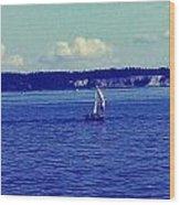 Sailing Seattle  Wood Print