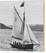 Sailing Ship Cutter Wood Print