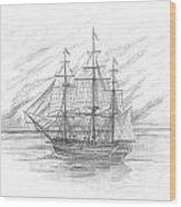 Sailing Ship Enterprise Wood Print by Michael Penny