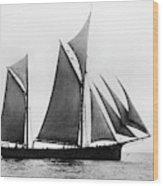 Sailing Ship Ketch, 1876 Wood Print