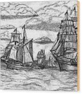 Sailing Ships Wood Print