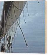Sailing Skipjack Wood Print