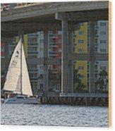 Sailing The Intracoastal Wood Print