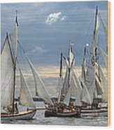 Sailing The Limfjord Wood Print