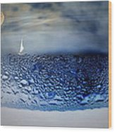 Sailing The Liquid Blue Wood Print