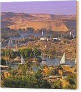 Sailing The Nile Wood Print