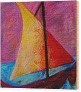 Sailing The Seas Wood Print