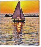 Sailing The Seven Seas Wood Print
