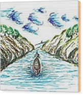 Sailing Through Wood Print