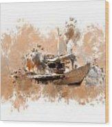 Sailing Time Wood Print