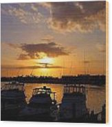 Sailing To Sunset Wood Print
