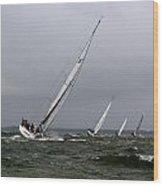 Sailing To Windward Wood Print