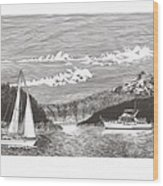 Sailing Mount Hood Oregon Wood Print