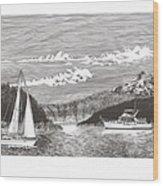 Sailing Mount Hood Oregon Wood Print