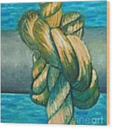 Sailor Knot 9 Wood Print