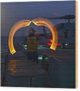 Sailor Signals Wood Print