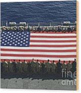 Sailors And Marines Display Wood Print by Stocktrek Images