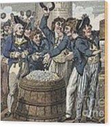 Sailors And Marines Of Hms Argonaut Wood Print