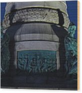Sailors And Soldiers Monument By Night Wood Print by Stephen Melcher