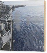 Sailors Fire A 25mm Machine Gun Aboard Wood Print