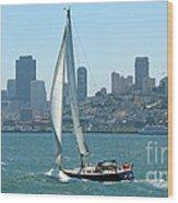 Sailors View Of San Francisco Skyline Wood Print