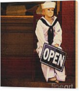 Sailors Welcome Cropped Wood Print