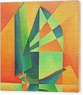 Sails At Sunrise Wood Print
