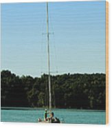 Sails Down  Wood Print
