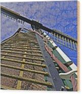 Sails Of A Windmill Wood Print