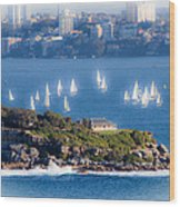 Sails Out To Play Wood Print