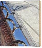 Sails Up Wood Print